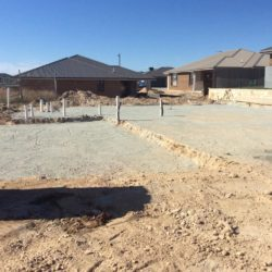 Googong House site cut and Prep7