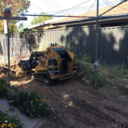 tight access mini digger landscaping ACT